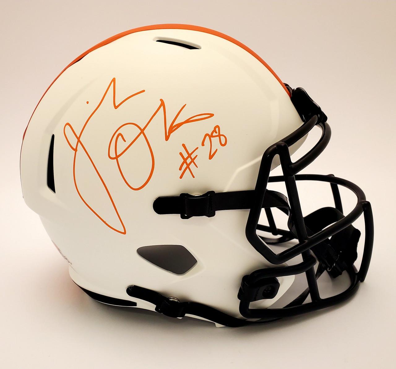 Jeremiah Owusu-Koramoah Cleveland Browns Autographed Lunar Replica Helmet - Beckett Authentic