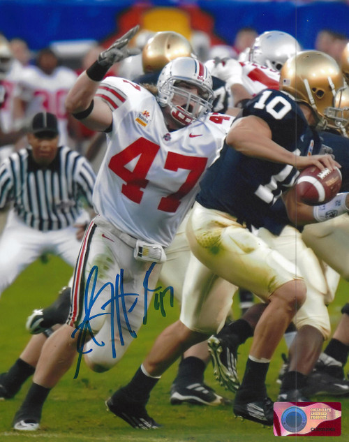 AJ Hawk OSU 8-8 8x10 Autographed Photo - Certified Authentic