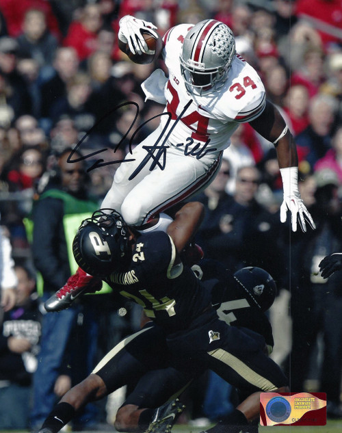 Carlos Hyde OSU 8-4 8x10 Autographed Photo - Certified Authentic