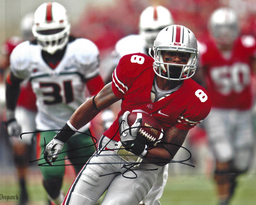 DeVier Posey OSU 8-5 8x10 Autographed Photo - Certified Authentic