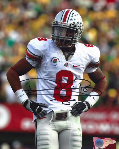 DeVier Posey OSU 8-8 8x10 Autographed Photo - Certified Authentic