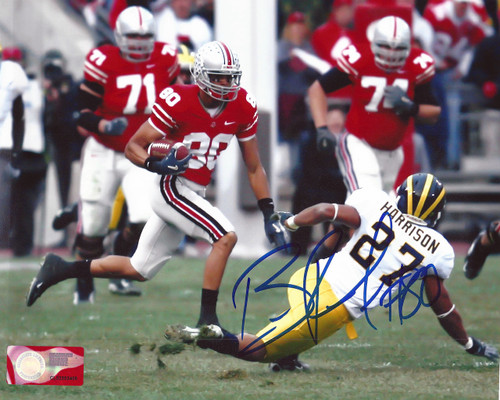 Brian Robiskie OSU 8-1 8x10 Autographed Photo - Certified Authentic