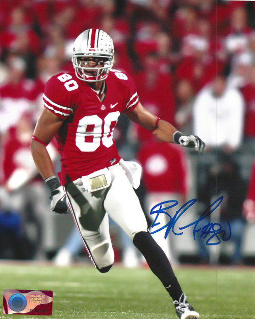 Brian Robiskie OSU 8-2 8x10 Autographed Photo - Certified Authentic