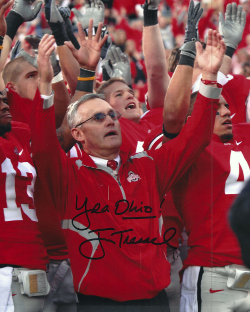 Jim Tressel OSU 8-4 8x10 Autographed Photo - Certified Authentic