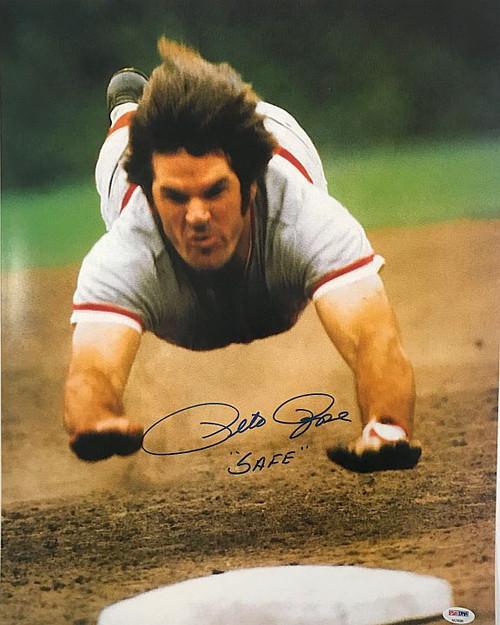 Pete Rose Cincinnati Reds 16-1 16x20 Autographed Photo - JSA Authentic