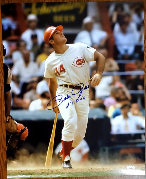 Pete Rose Cincinnati Reds 16-4 16x20 Autographed Photo - JSA Authentic