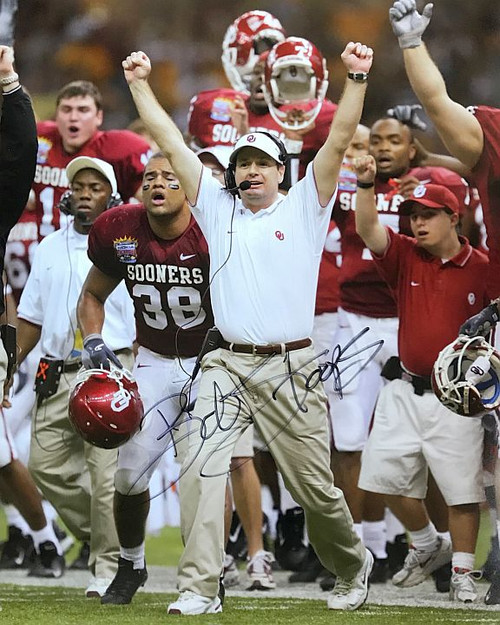 Bob Stoops Oklahoma Sooners 16-1 16x20 Autographed Photo - Certified Authentic