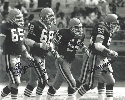 1980 O'line Browns 8-1 8x10 Autographed Photo - Certified Authentic