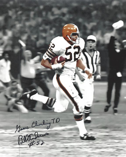 Bill Andrews Browns 8-1 8x10 Autographed Photo - Certified Authentic