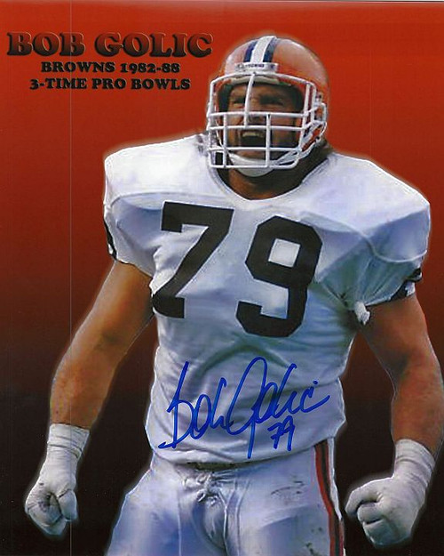 Bob Golic Browns 8-1 8x10 Autographed Photo - Certified Authentic