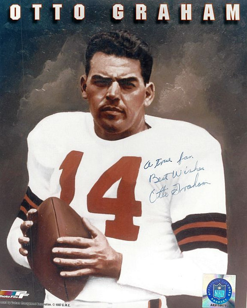 Otto Graham Browns 8-1 8x10 Autographed Photo - Certified Authentic