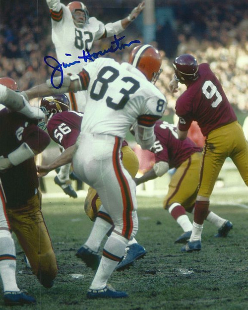 Jim Houston Browns 8-2 8x10 Autographed Photo - Certified Authentic