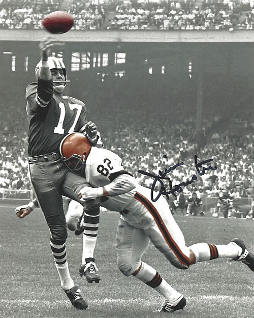 Jim Houston Browns 8-3 8x10 Autographed Photo - Certified Authentic