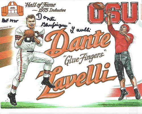Dante Lavelli Cleveland Browns 8-3 8x10 Autographed Photo - Certified Authentic