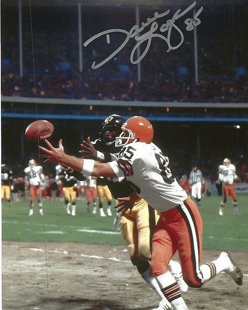 Dave Logan Browns 8-2 8x10 Autographed Photo - Certified Authentic
