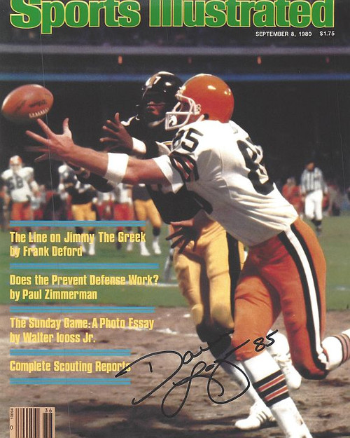 Dave Logan Browns 8-3 8x10 Autographed Photo - Certified Authentic