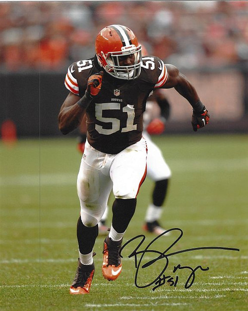Barkevious Mingo Browns 8-2 8x10 Autographed Photo - Certified Authentic