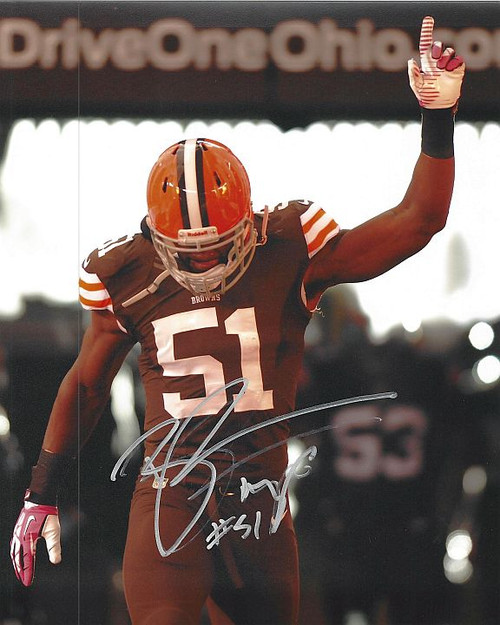 Barkevious Mingo Browns 8-3 8x10 Autographed Photo - Certified Authentic