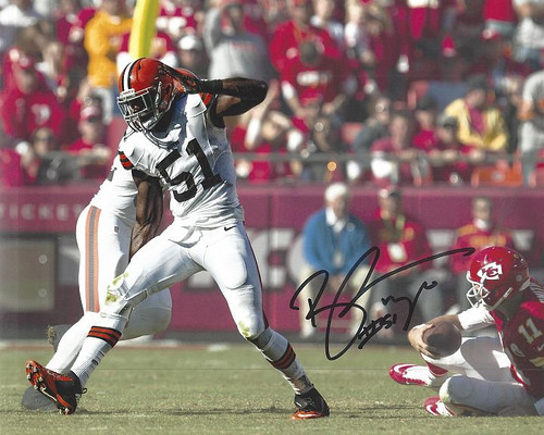 Barkevious Mingo Browns 8-4 8x10 Autographed Photo - Certified Authentic