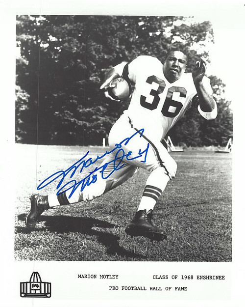 Marion Motley Browns 8-1 8x10 Autographed Photo - Certified Authentic