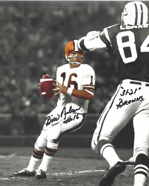Bill Nelson Browns 8-1 8x10 Autographed Photo - Certified Authentic