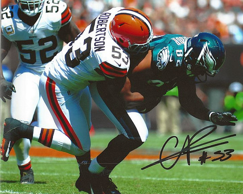 Craig Robertson Browns 8-2 8x10 Autographed Photo - Certified Authentic