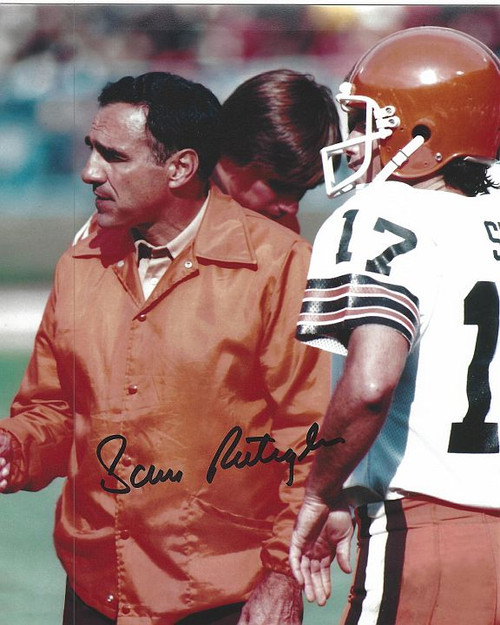Sam Rutigliano Browns 8-1 8x10 Autographed Photo - Certified Authentic