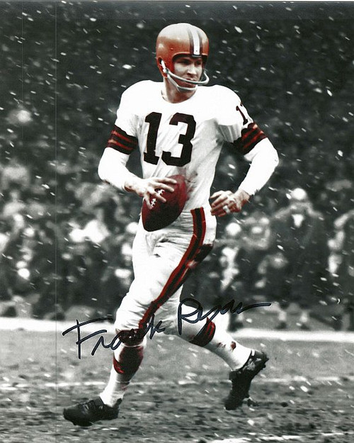 Frank Ryan Browns 8-2 8x10 Autographed Photo - Certified Authentic