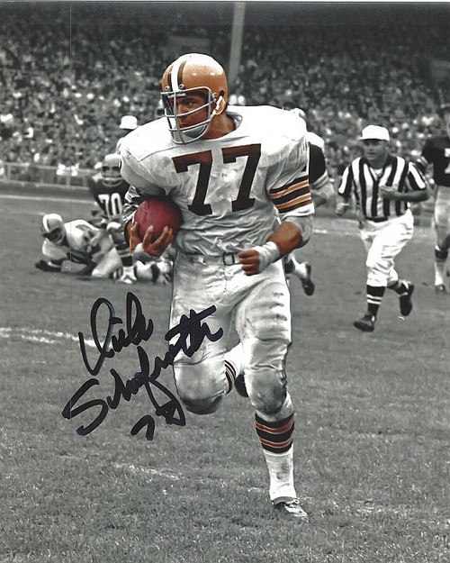 Dick Schafrath Browns 8-3 8x10 Autographed Photo - Certified Authentic