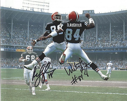 Webster Slaughter & Reggie Langhorne Cleveland Browns 8-1 8x10 Autographed Photo - Certified Authentic