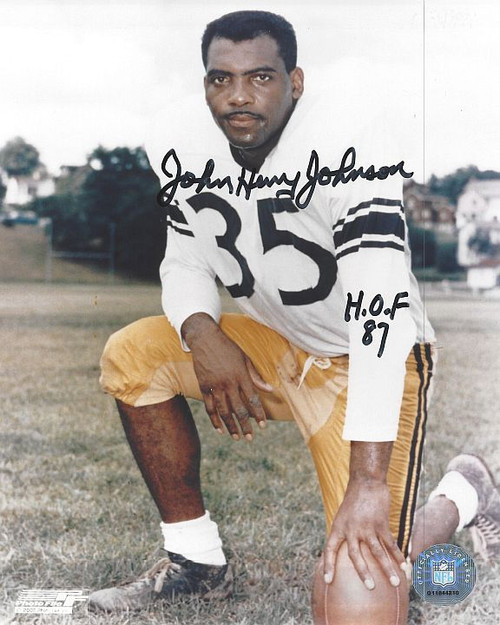 John Henry Johnson Steelers 8-1 8x10 Autographed Photo - Certified Authentic