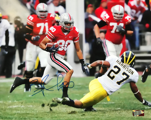 Brian Robiskie OSU 16-1 16x20 Autographed Photo - Certified Authentic