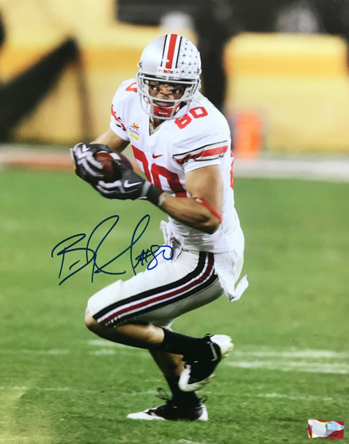 Brian Robiskie OSU 16-3 16x20 Autographed Photo - Certified Authentic