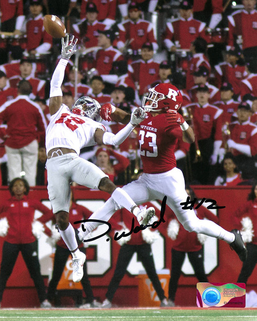 Denzel Ward 8-1 8x10 Autographed Photo - Certified Authentic