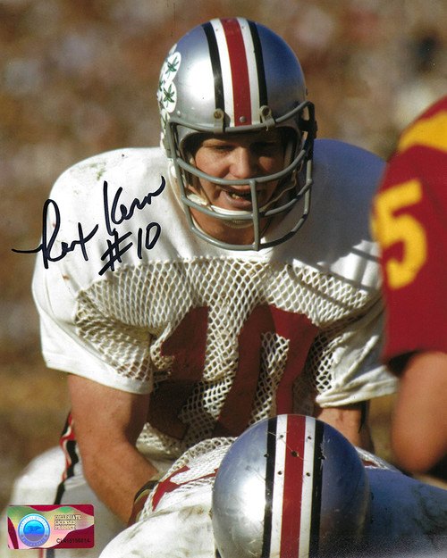 Rex Kern OSU 8-3 8x10 Autographed Photo - Certified Authentic