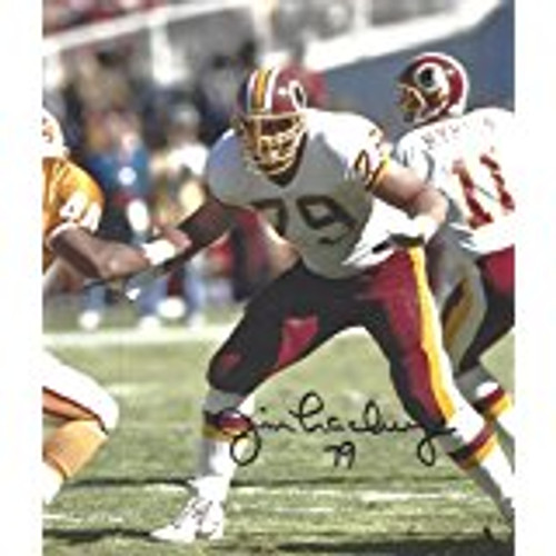 Jim Lachey Washington Redskins Signed 8-1 8x10 Photo