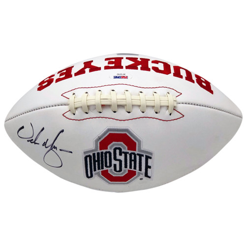 Urban Meyer Autographed Ohio State Buckeyes White Panel Football - PSA Authentic