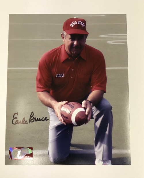 Earle Bruce OSU 8-6 8x10 Autographed Photo - Certified Authentic