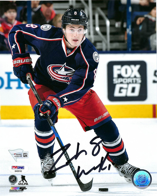 Zach Werenski Blue Jackets 8-2 8x10 Photo - PSA Authentic