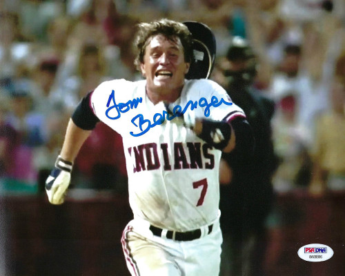 Tom Berenger Indians Major League 8-7 - PSA Authenticated