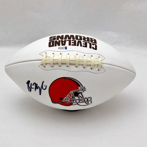 Baker Mayfield Cleveland Browns Autographed White Panel Football - Beckett COA
