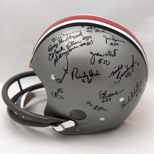 1968 Team OSU w/ Holtz Autographed Replica Helmet - Certified Authentic