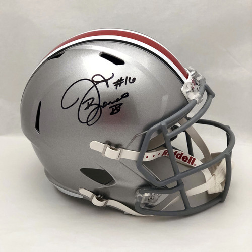 JT Barrett OSU Silver Autographed Replica Helmet - Certified Authentic