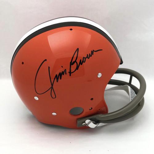 Jim Brown Cleveland Browns Autographed Suspension Helmet - JSA Authentic