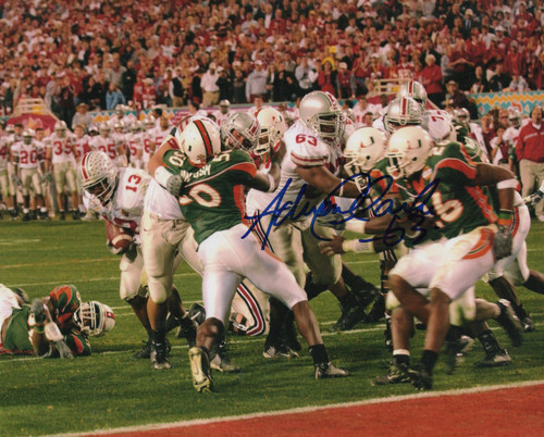Adrien Clarke OSU 8-1 8x10 Autographed Photo - Certified Authentic