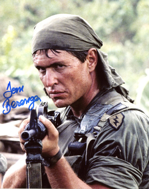 Tom Berenger 8-3 Autographed 8x10 Photo from 'Platoon' - Certified Authentic