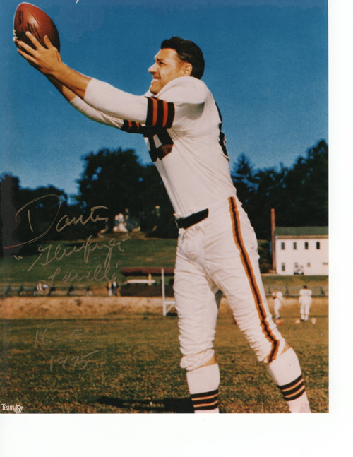 Dante Lavelli Cleveland Browns 8-6 8x10 Autographed Photo - Certified Authentic