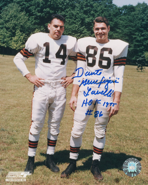 Dante Lavelli Cleveland Browns 8-8 8x10 Autographed Photo - Certified Authentic
