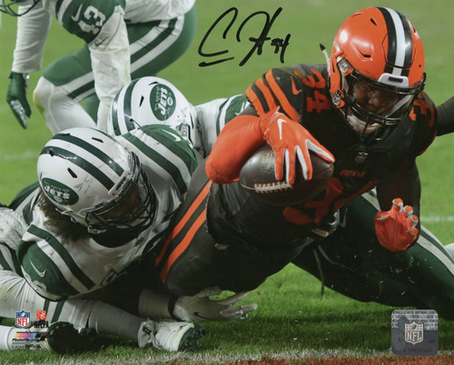 Carlos Hyde Cleveland Browns 8-1 8x10 Autographed Photo - Certified Authentic