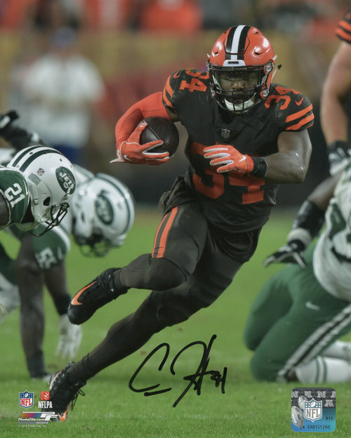 Carlos Hyde Cleveland Browns 8-2 8x10 Autographed Photo - Certified Authentic